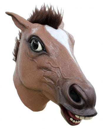 Brown Horse Mask With Hair Buy Animal Masks Horror Shopcom