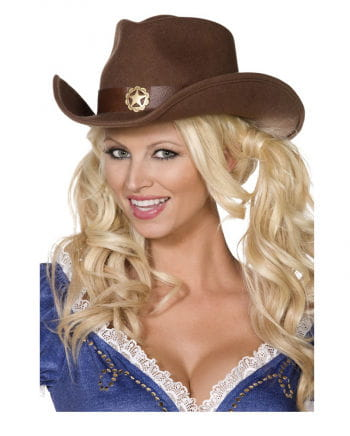 Brauner Cowboyhut aus Filz