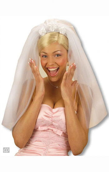 Bridal veil with roses