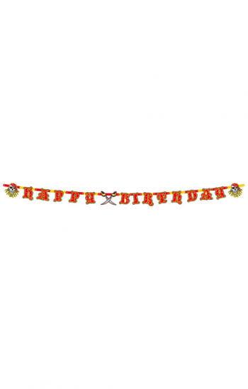 Red Pirate Birthday Garland