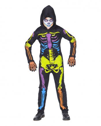 Bunter Skelett Overall für Kinder