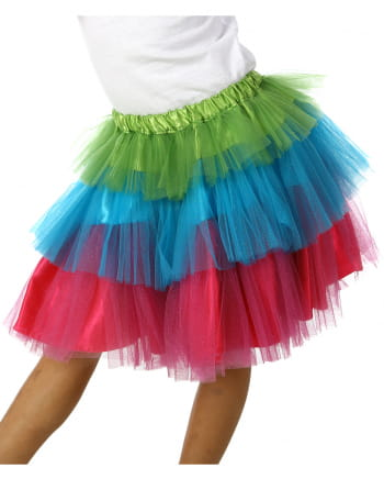 Colorful Tulle Carnival Children Skirt