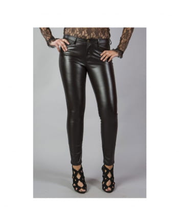 Burleska Demonia Trousers Imitation Leather Brown