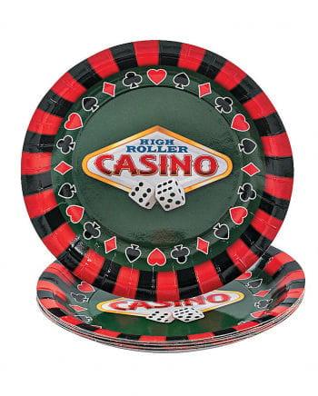 Casino Paper Plate Small