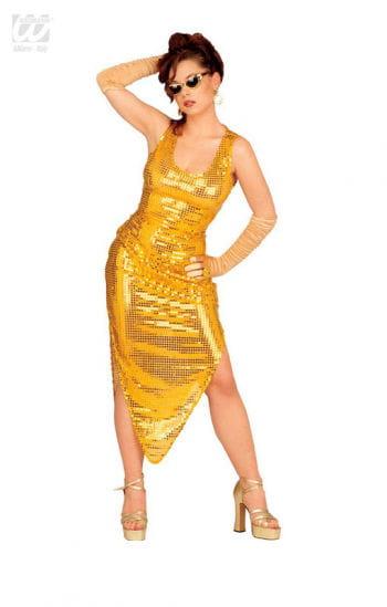 Celebrity Pailletten Kleid gold für deine Revueshow | Horror-Shop.com