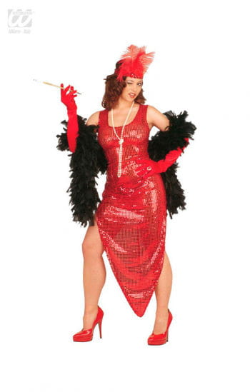 Celebrity Sequin Dress red