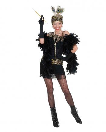 Charleston Kleid schwarz-gold