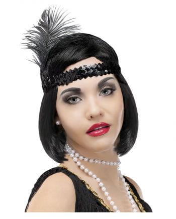 Charleston Stirnband schwarz