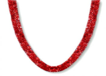 Christmas Tree Garland Red