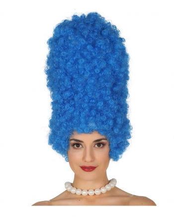 Comic Wig Margin Blue