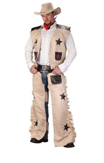 cowboy kost m beige 4 teilig als faschingskost m horror. Black Bedroom Furniture Sets. Home Design Ideas