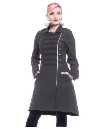 Dark Romance Gothic Coat Dark Gray