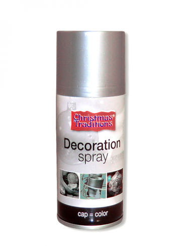 Decorative spray silver