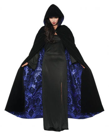 Deluxe Hooded Cape Black-violet