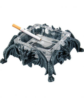 Dragon ashtray with glass insert