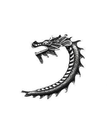 Dragon earring silver