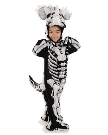 Dreihorn Dino Skelett Kleinkinderkostüm