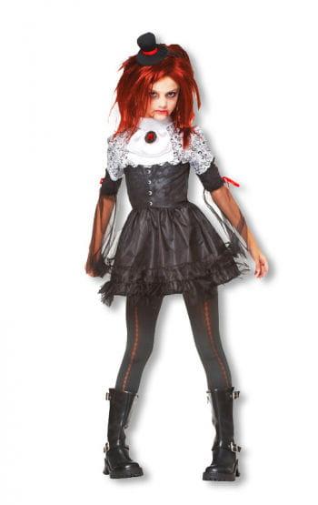 Edgy V& Child Costume  sc 1 st  Horror-Shop.com & Edgy Vamp Child Costume -Vampiress Outfit for Children-Child Vampire ...