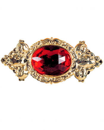 Noble Giant Brooch With Red Stone