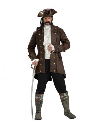 Edler Piraten Kapitäns Kurzmantel Braun