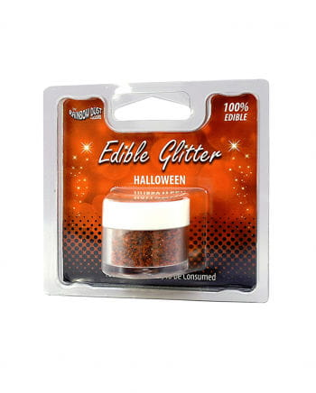 Eatable Halloween Glitter Orange-black