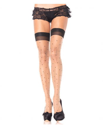 Overknee Fine stockings Polka Dots