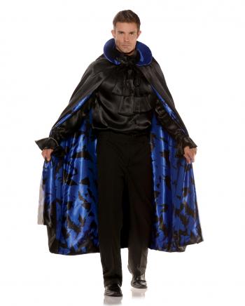 Fledermaus Kostüm Umhang schwarz-blau