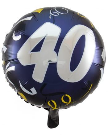 Folienballon 40 schwarz-gold 45cm