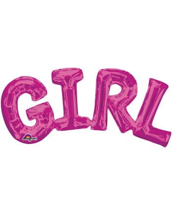Folienballon Schriftzug Girl pink