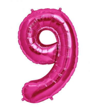 Folienballon Zahl 9 Pink