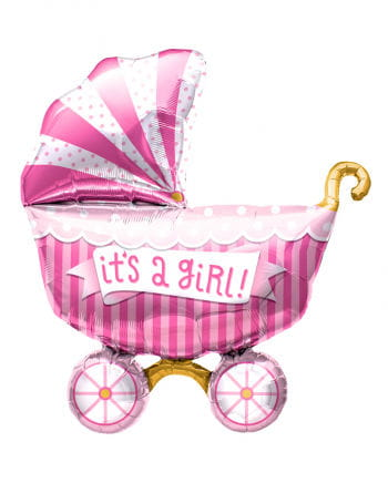 """Foil Balloon Baby Carriage """"It`s a Girl"""""""
