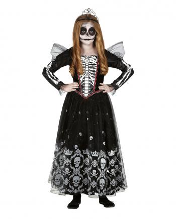 Fräulein Skeleton Kinder Kostüm Kleid