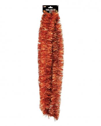Fransen Girlande Metallic Orange 275 cm