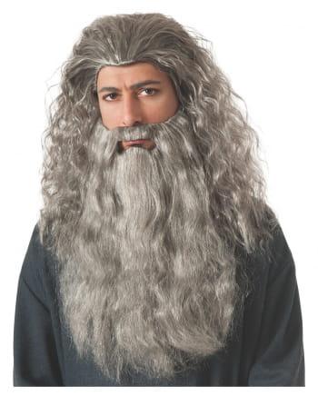 Gandalf Perücke mit Bart grau