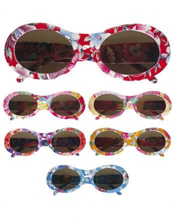 Flowered hippie sunglasses