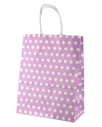 Gift Bag Lilac Spotted Big