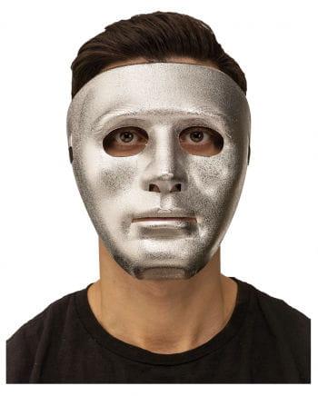 Gesichtsmaske silber