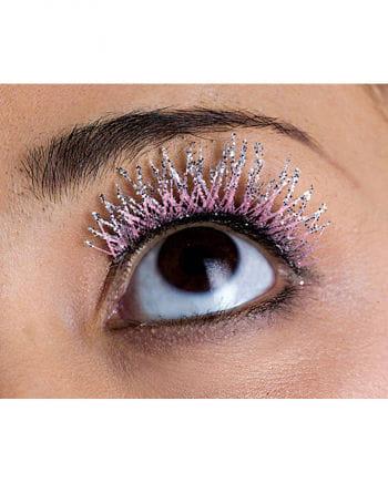 Glitter Wimpern pink