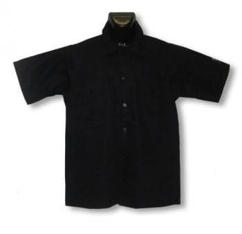 Schwarzes Hemd mit kurzen Ärmeln