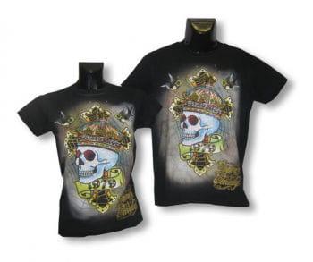Unisex Shirt Skull Crown