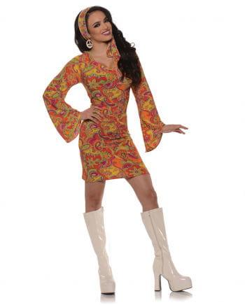 GoGo hippie minidress orange medium