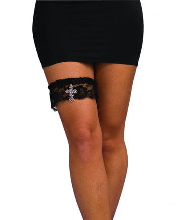Gothic garter with purple cross