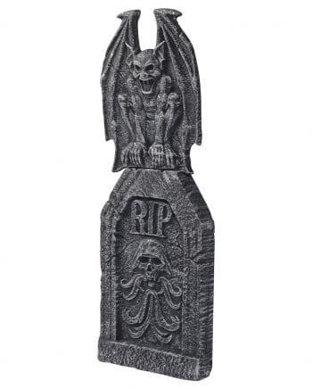 2-tlg tombstone with gargoyle