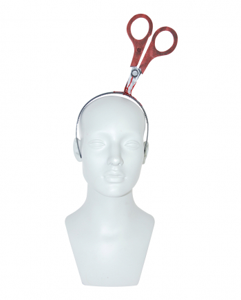 Hairband With Bloody Scissors