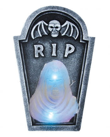 Halloween headstone with LED ghost