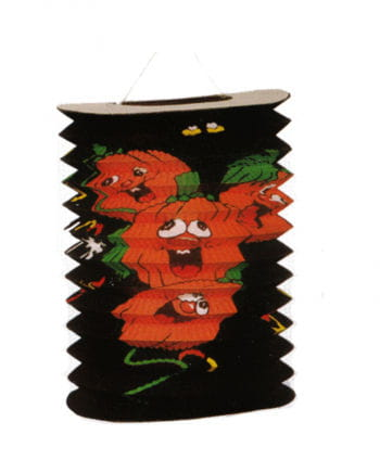 Kürbis Lampion 20 cm schwarz