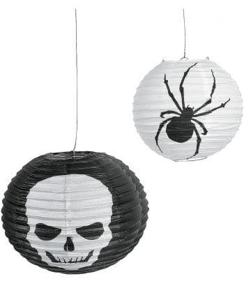 Halloween Skull Spider lanterns 6 Pack
