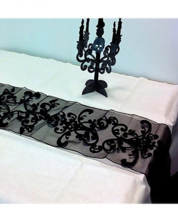 halloween tischl ufer schwarz stimungsvolle halloween tischdeko horror. Black Bedroom Furniture Sets. Home Design Ideas