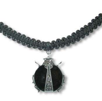 Necklace with beetle