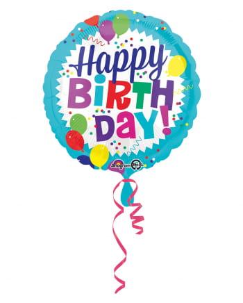Happy Birthday Folienballon bunt 43cm